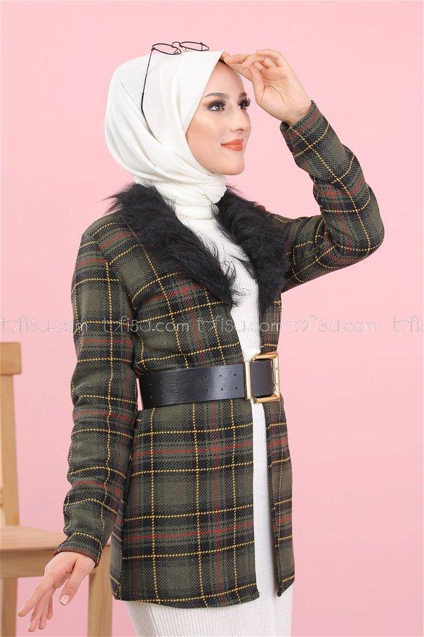 Jacket Furry khaki - 1354