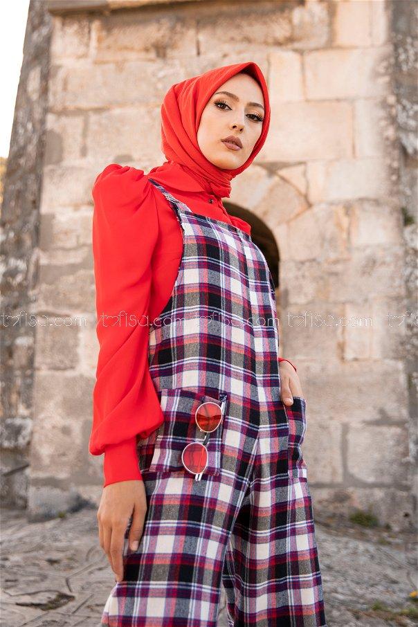 Jumpsuit Black Red - 3303
