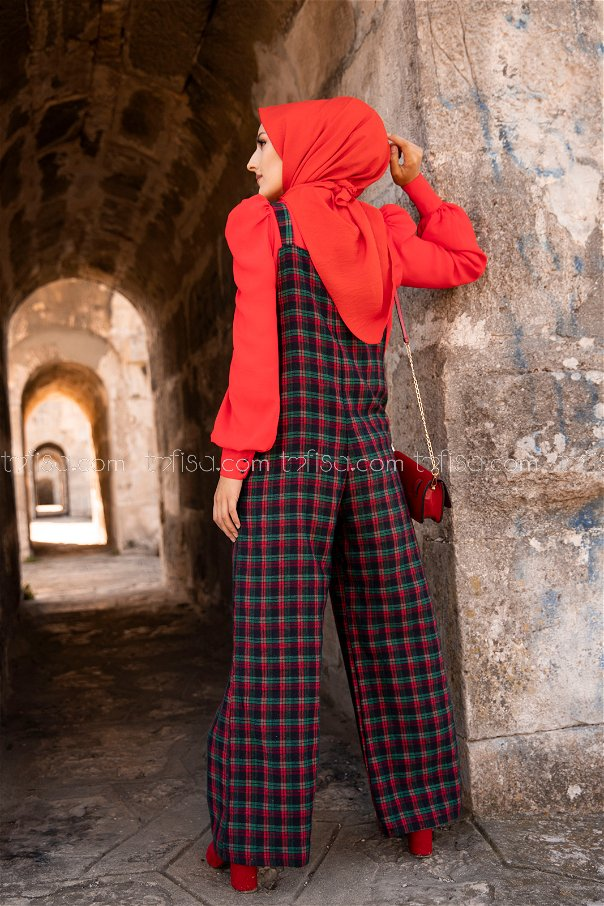 Jumpsuit Green Red - 3303