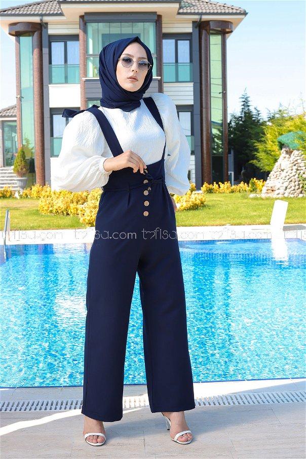 Jumpsuit Navy Blue - 8552