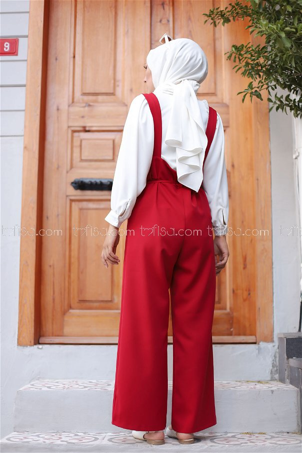 Jumpsuit Red - 8552