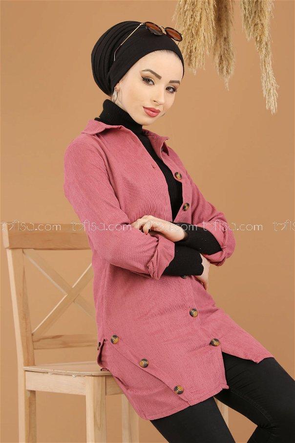 Kadife Tunik Gul - 8290