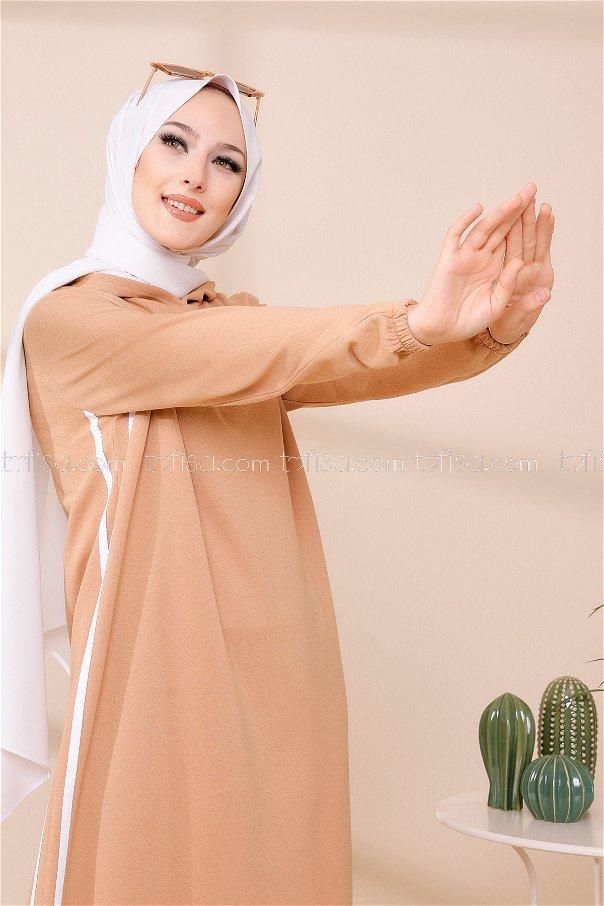 Kapşonlu Elbise Bıskuvı - 5257