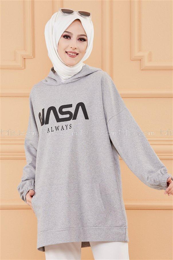 Kapsonlu Sweat GRI - 4137