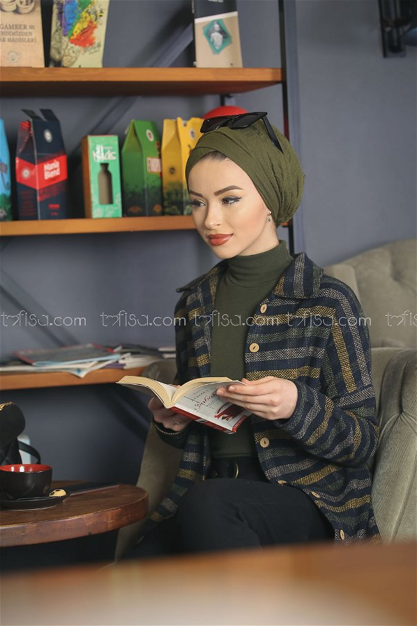 Kaşe Gömlek Siyah Haki - 1357