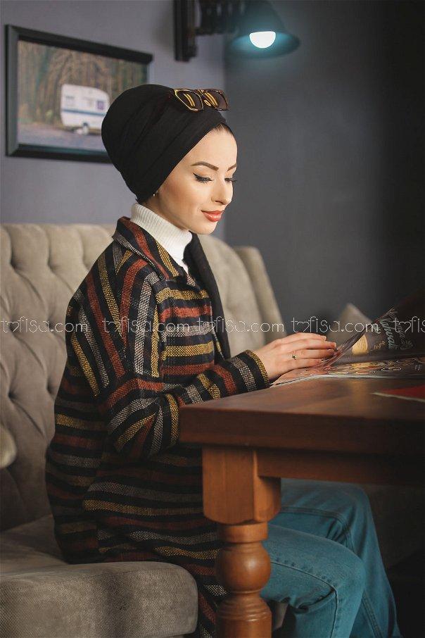 Kaşe Gömlek Siyah Hardal - 1357
