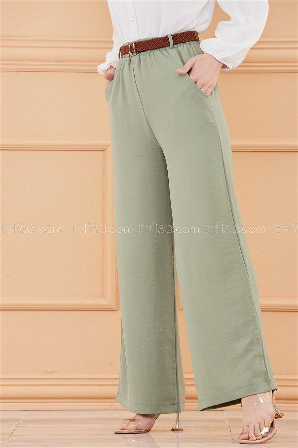 Kemerlı Pantolon HAKI - 20075