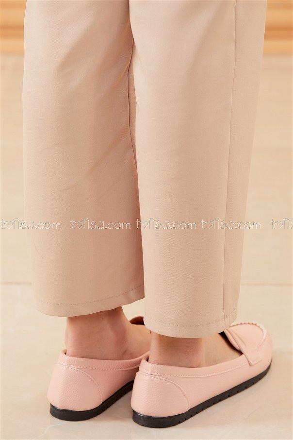 Klasık Babet Ayakkabı PUDRA - 20523