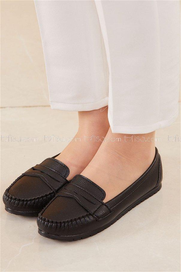 Klasık Babet Ayakkabı SIYAH - 20523