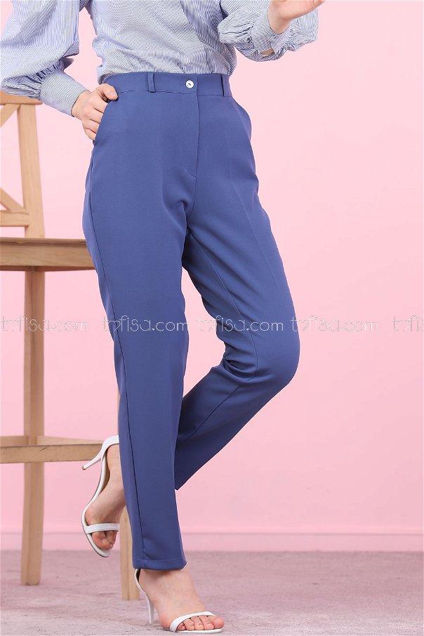 Klasik Pantolon Mavi - 8504