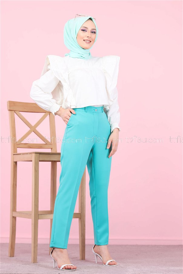 Klasik Pantolon Yeşil - 8504