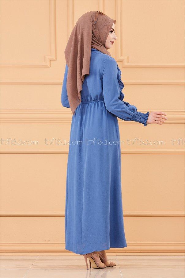 Kol Detaylı Elbise INDIGO - 20162