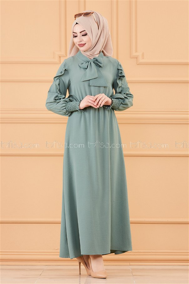 Kol Detaylı Elbise MINT - 20162