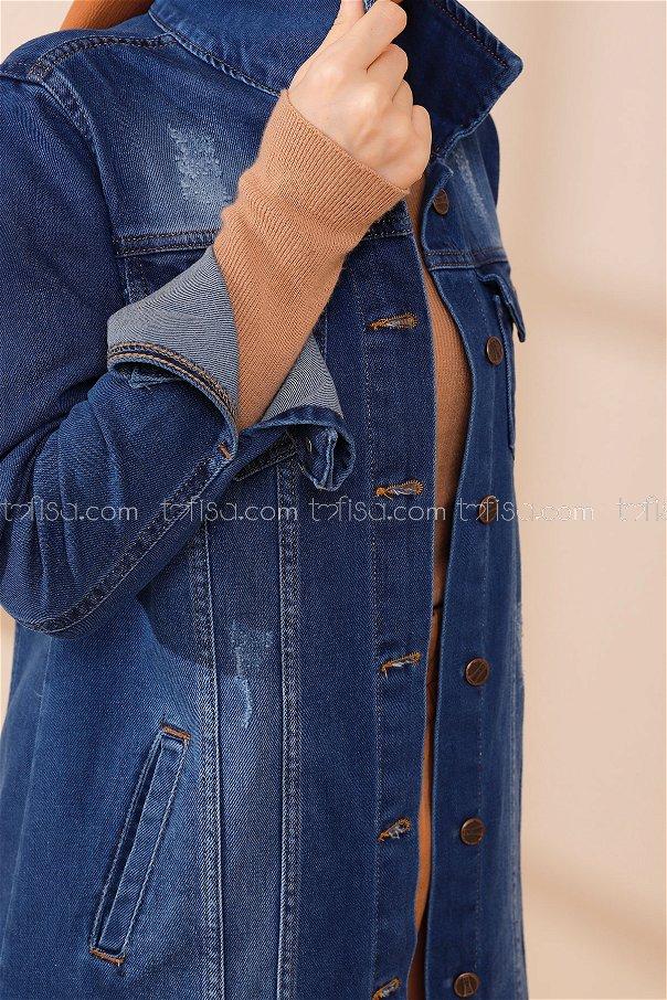 Kot Ceket Acık Mavi - 8624