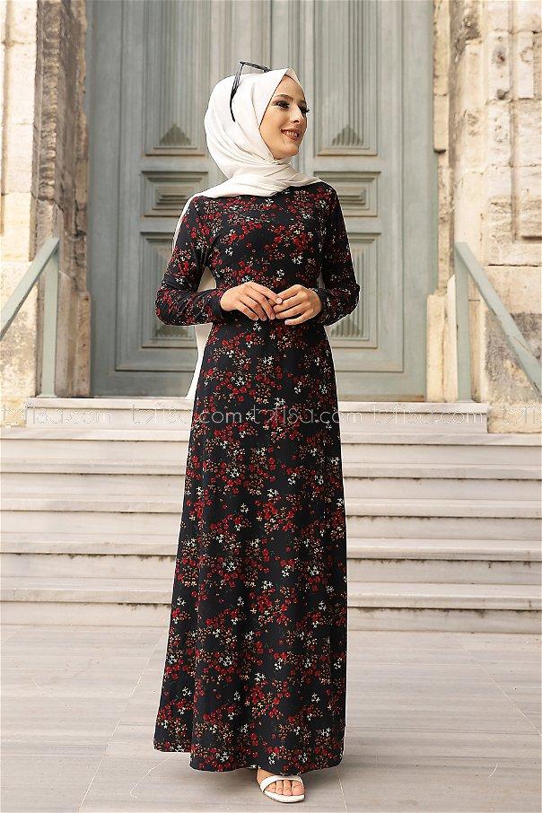 Elbise Lacivert - 8487