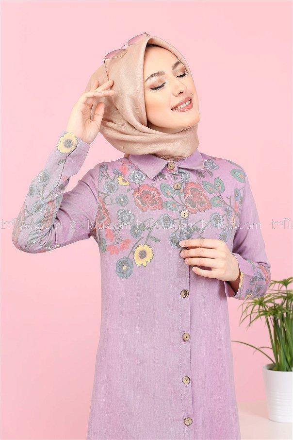 Long Shirt Tunic Rose - 3098