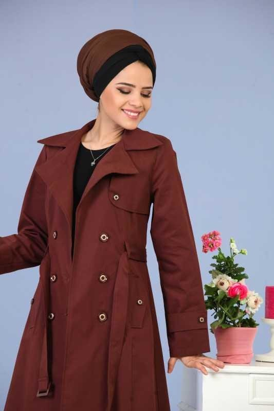 Long Trench Coat - Brown 02 6331