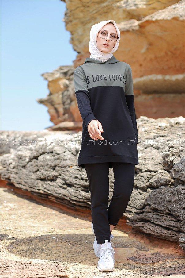 Love Tunik Pantolon Haki - 8548