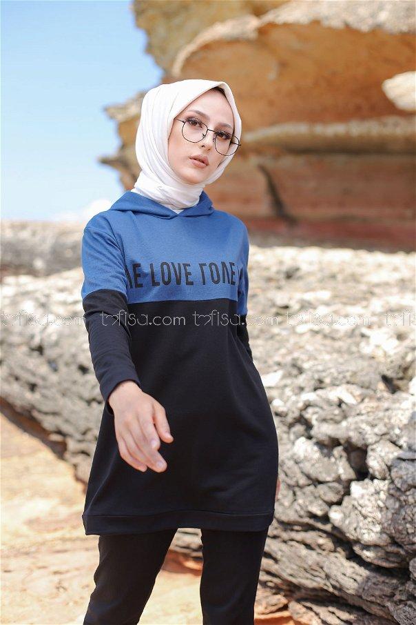 Love Tunik Pantolon İndigo - 8548
