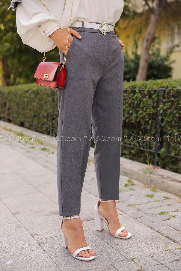Lycra Gabardine Pant Grey - 8580