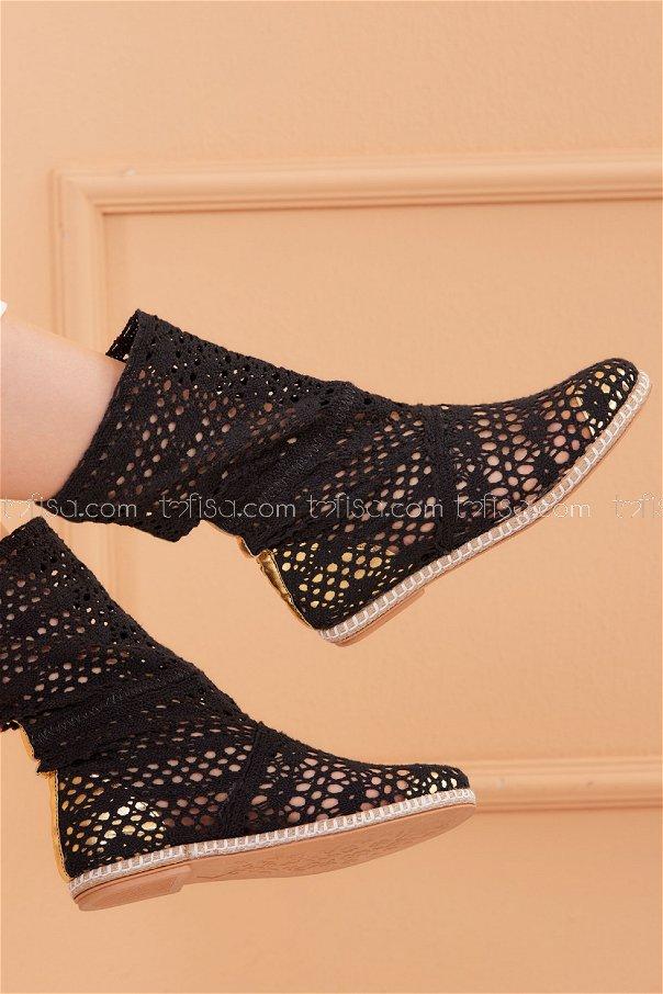 Mesh Boots BLACK - 20569