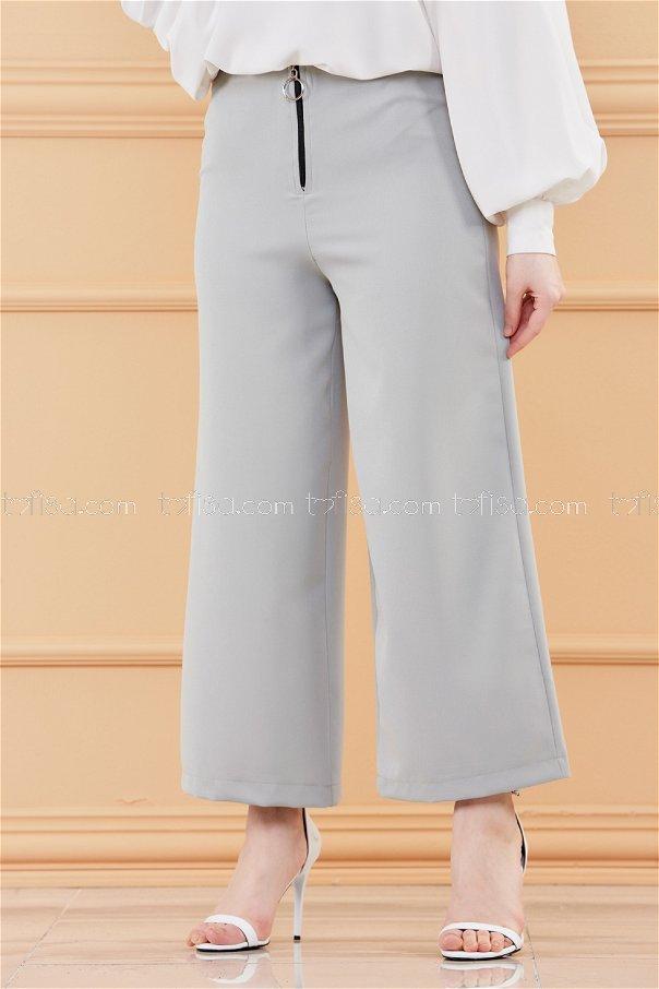 Ön Fermuarlı Pantolon MINT - 3525
