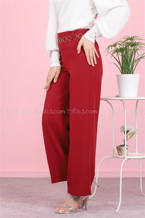 Pant Claret Red - 3101