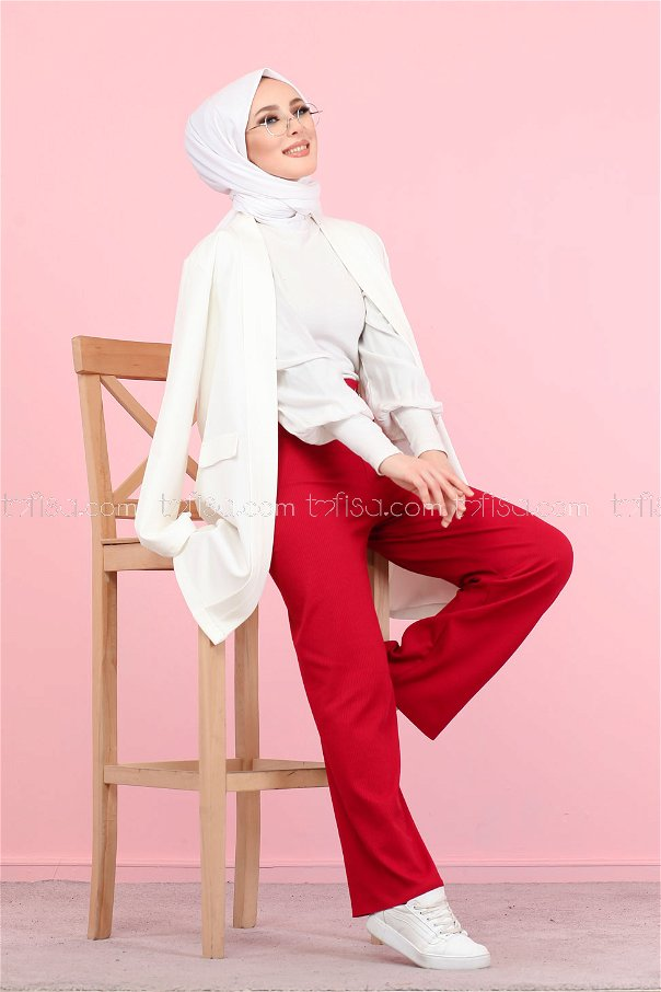 Pant Claret Red - 4142