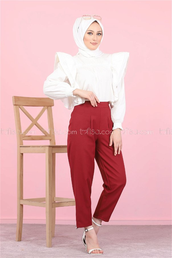 Pant Claret Red - 8441