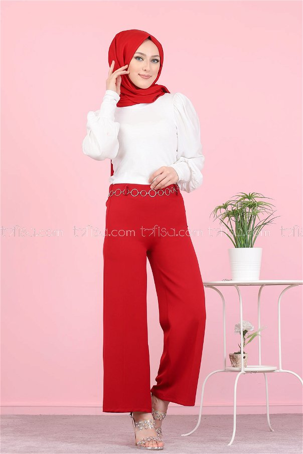 Pant Red - 3101