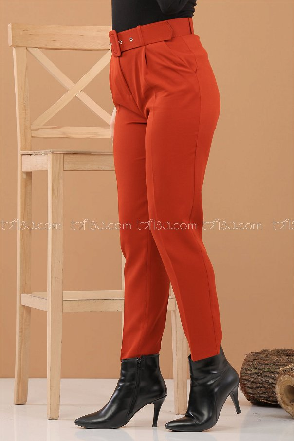 Pantolon Kemer Kiremit - 8308