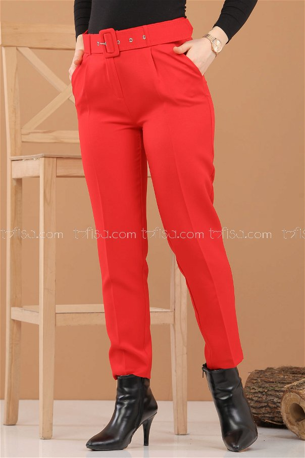 Pantolon Kemer Kırmızı - 8308