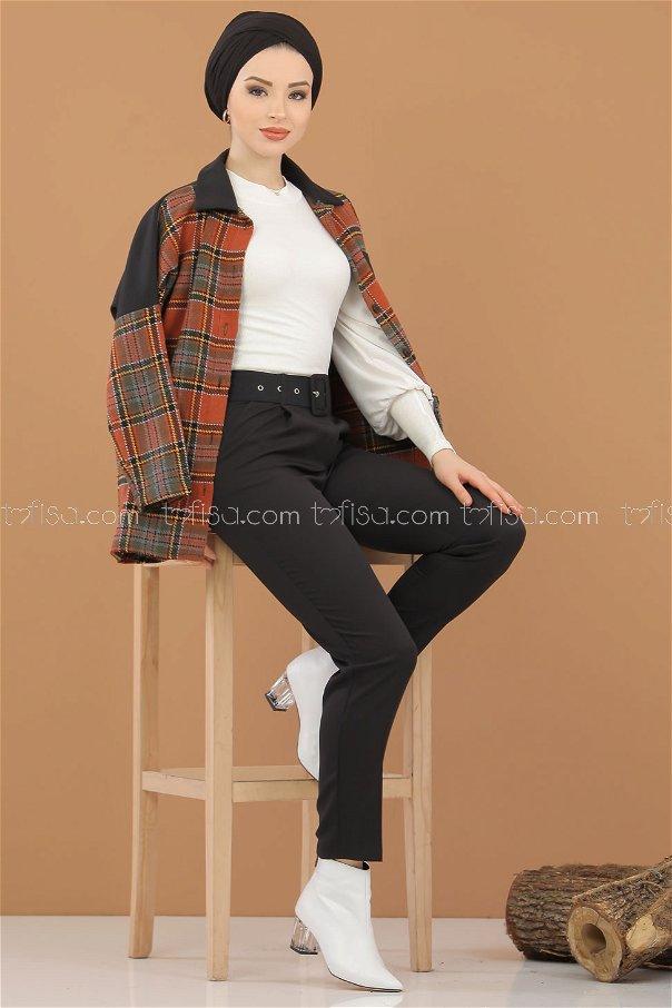 Pantolon Kemer Siyah - 8308