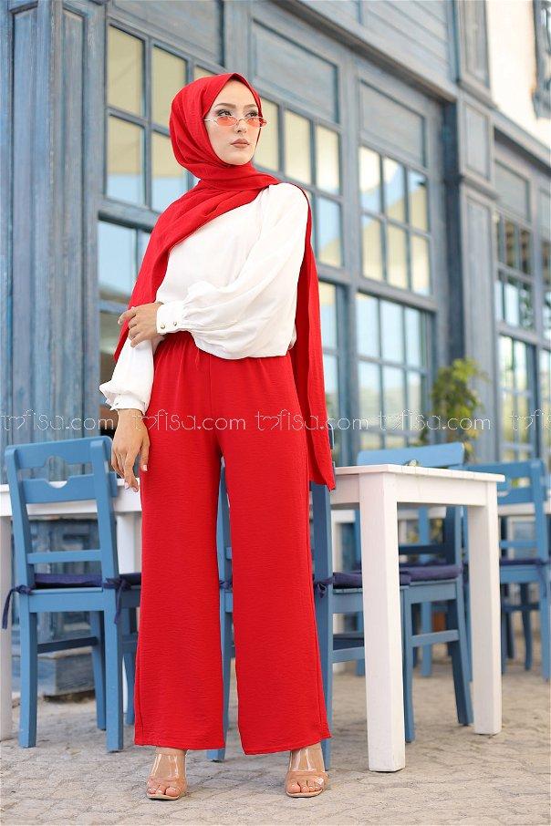 Pantolon Kırmızı - 3251