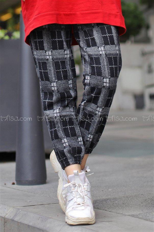Pantolon Siyah Gri - 8627