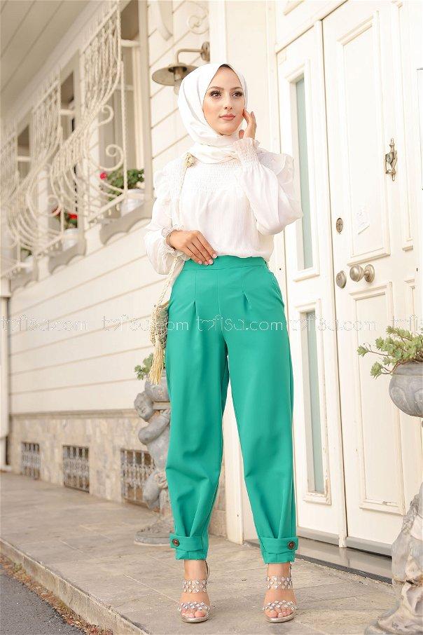 Pantolon Yeşil - 8563