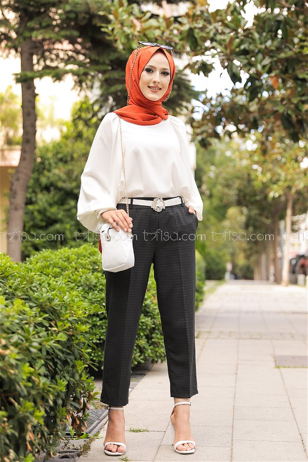 Pants Anthracite - 8597