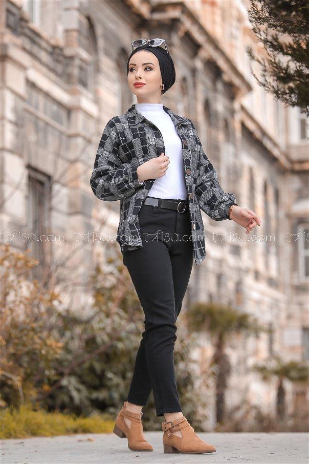Pants jeans black - 8297