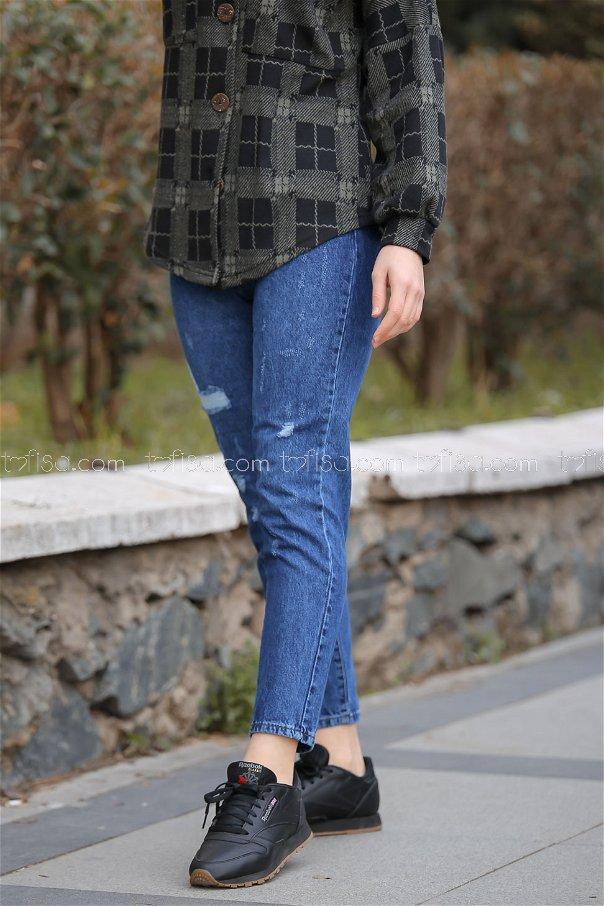Pants jeans color blue - 8300