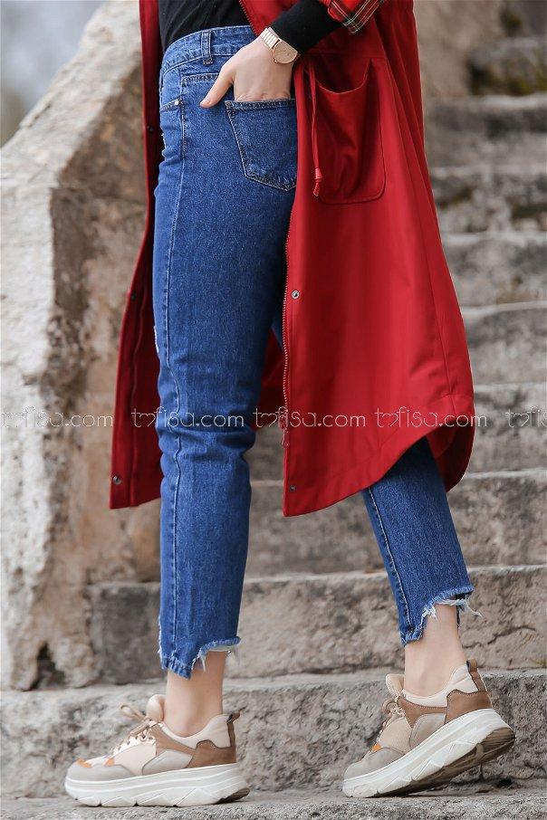 Pants jeans color blue - 8302