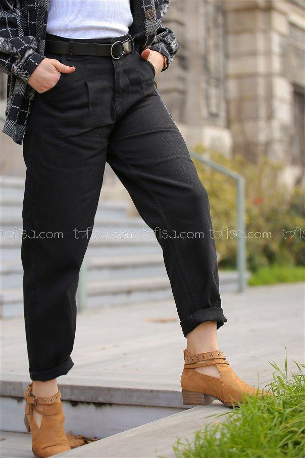Pants jeans Wide black - 8304