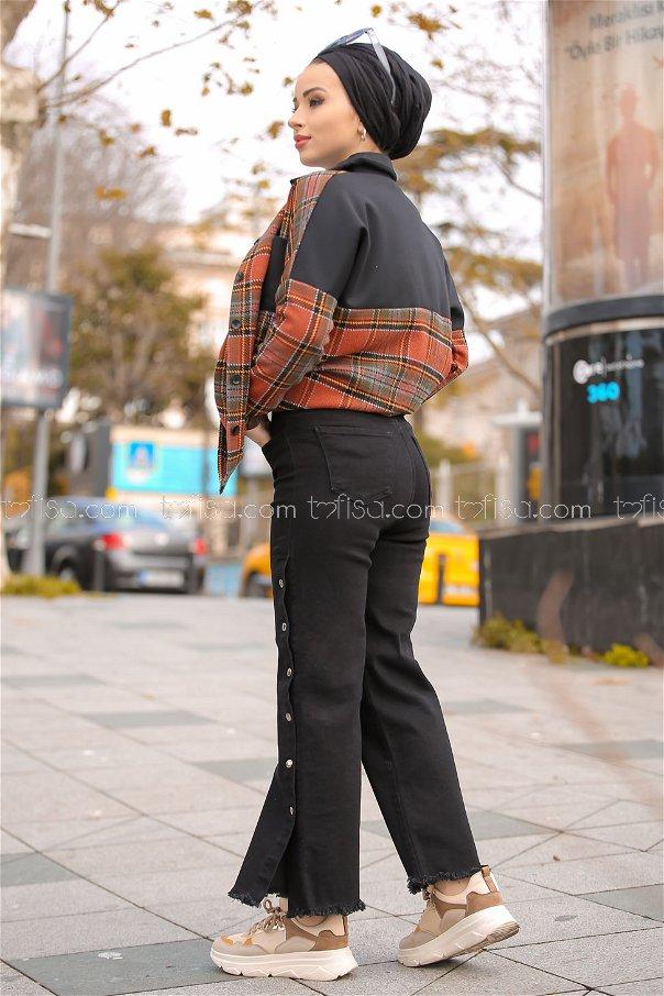 Pants jeans Wide leg black - 8298