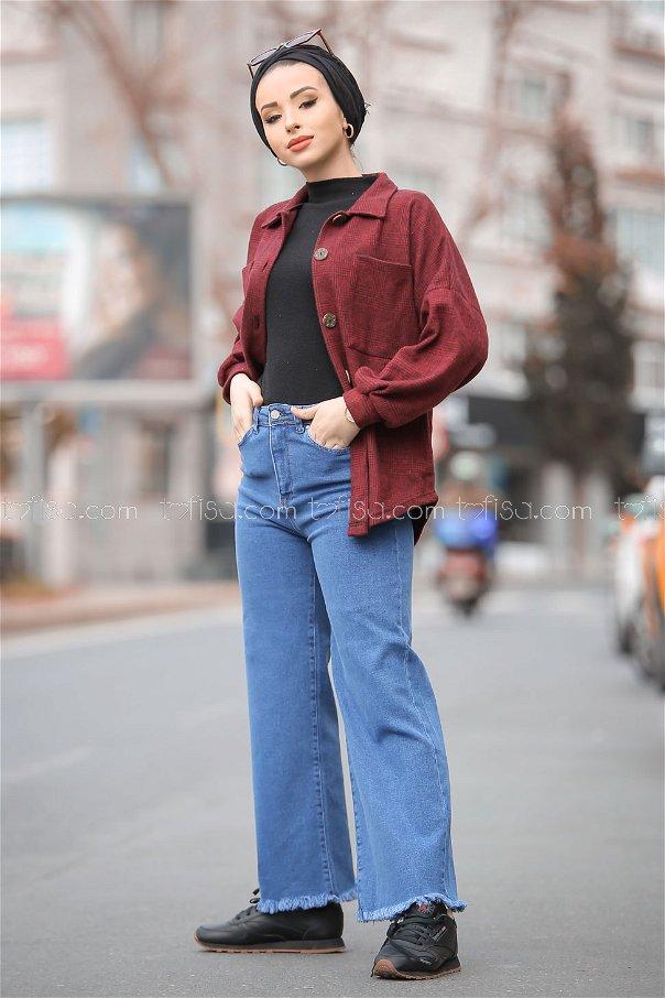 Pants Jeans Wide leg blue - 8306