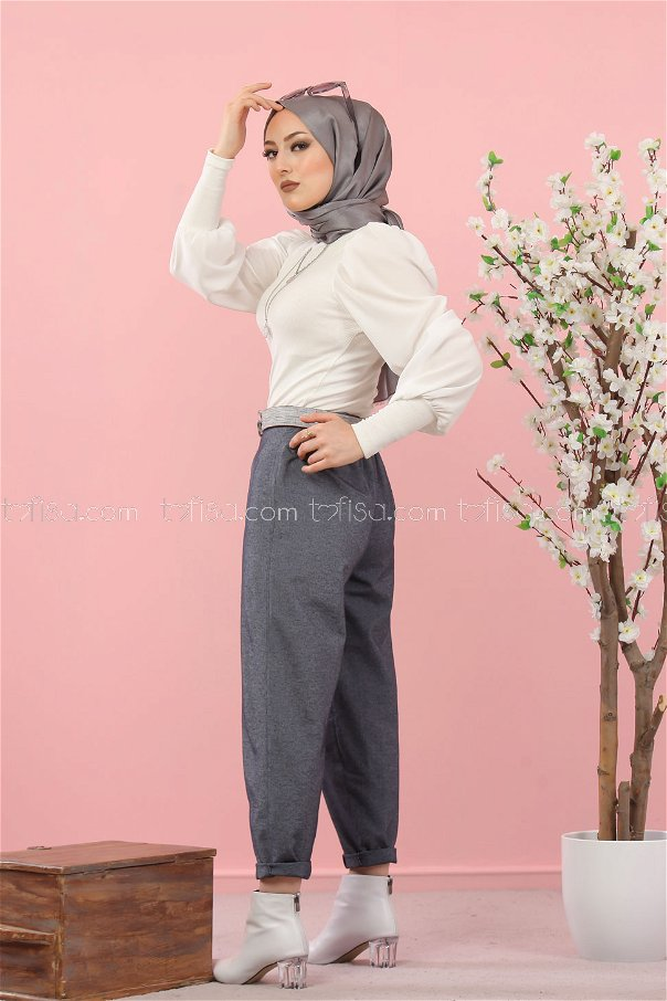pants navy blue - 3012