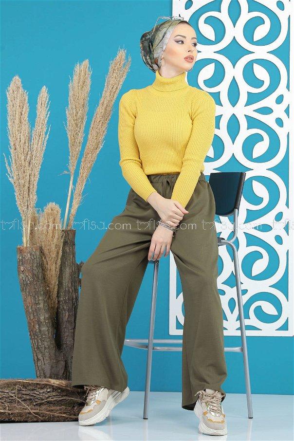 Pants Wide leg khaki - 02 7669