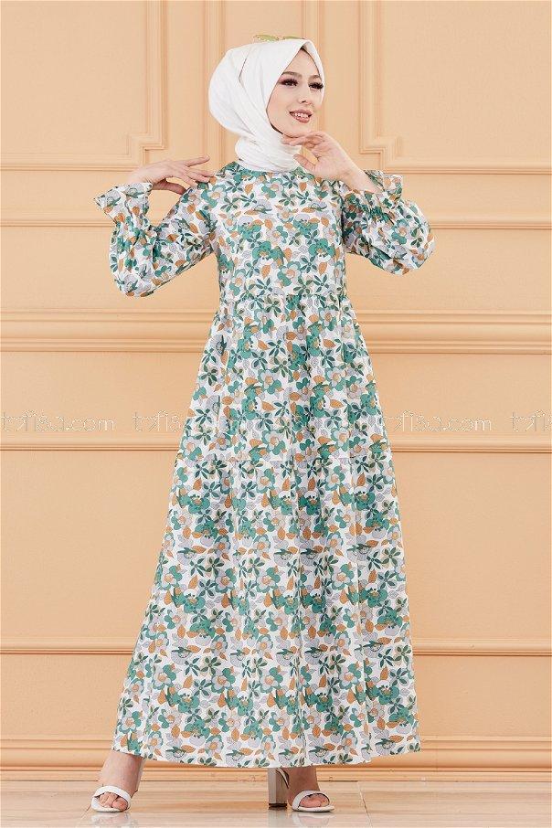 Pattarned Dress GREEN - 20108
