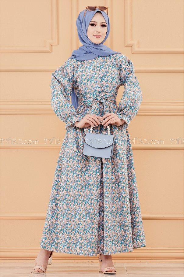 Pattarned Dress ORANGE - 20107