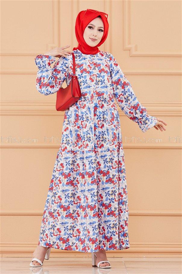 Pattarned Dress SAKS - 20108
