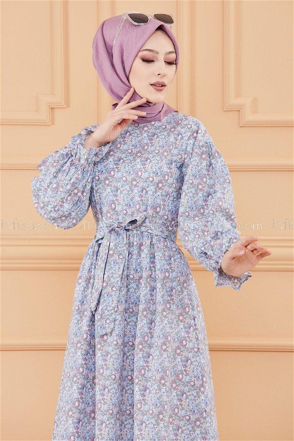 Patterned Dress BABY BLUE-20107