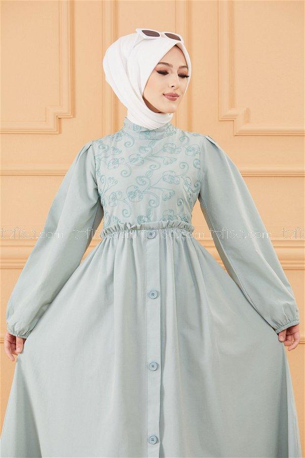 Patterned Dress MINT - 20163